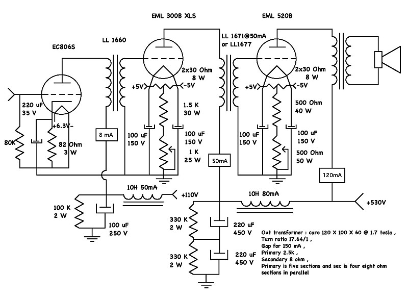 diytube  u2022 view topic  u2013 se 845 tube amp schematics