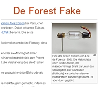 FAKE de Forest tube