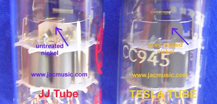 Compare of TESLA TUBES with JJ TUBES